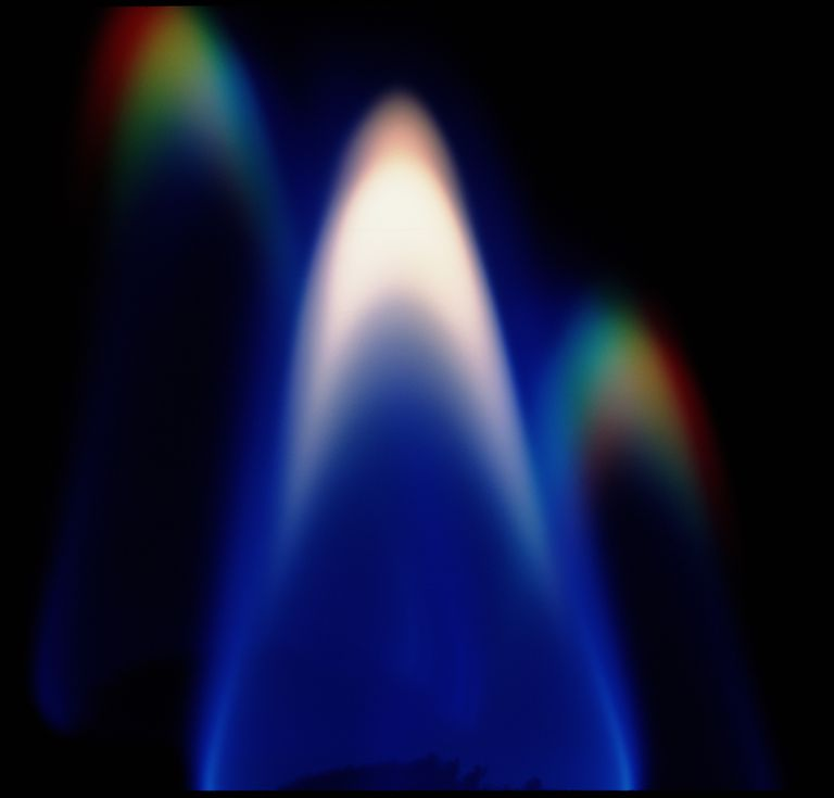 Blue and purple flame