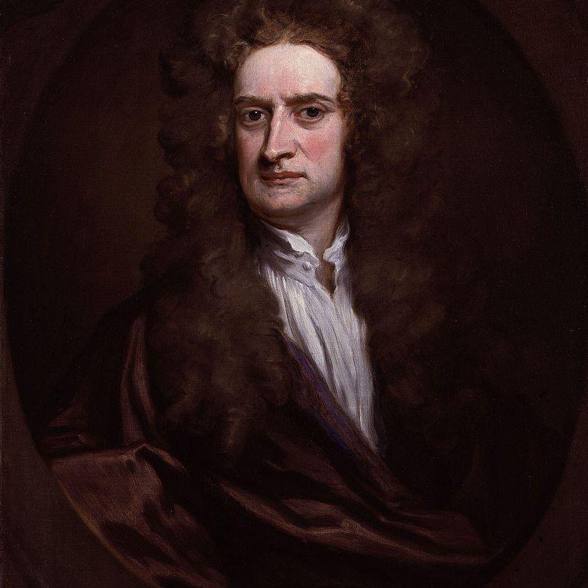 Isaac Newton full color portrait.