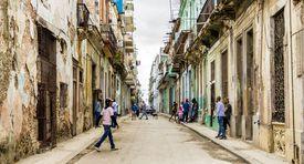 A typical street scene in Centro in Havana, Cuba