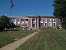 Old Main Hall at the University of Central Arkansas.