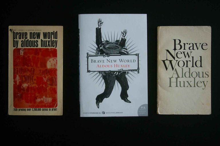 A selection of Brave New World covers.