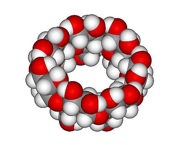 This is the three-dimensional structure of beta-cyclodextrin, the active ingredient in Febreze.