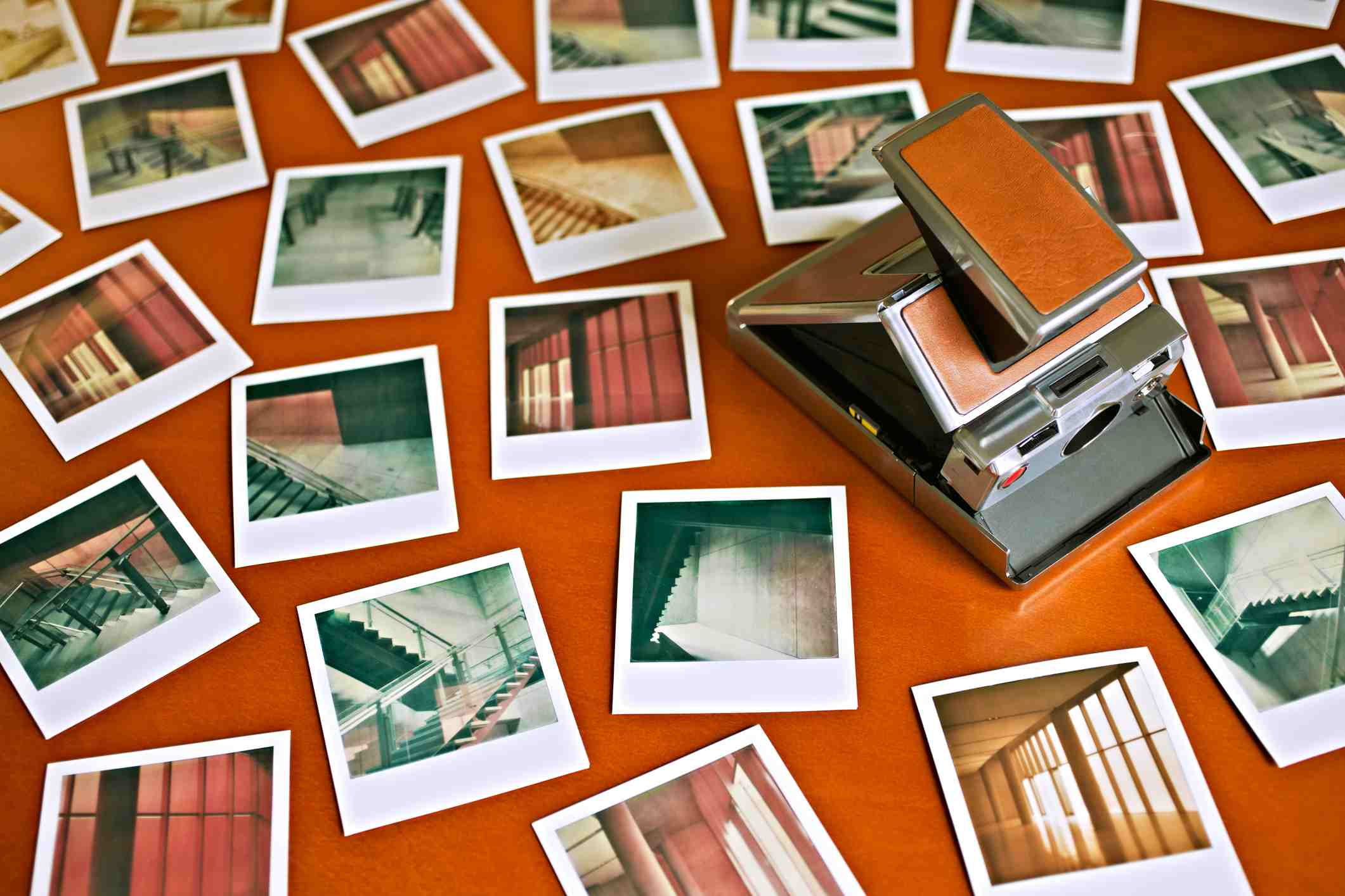 Instant photos and camera from the 1970's