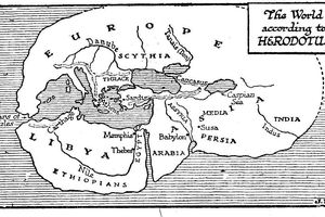 Map Showing Herodotus' View of the Ancient World
