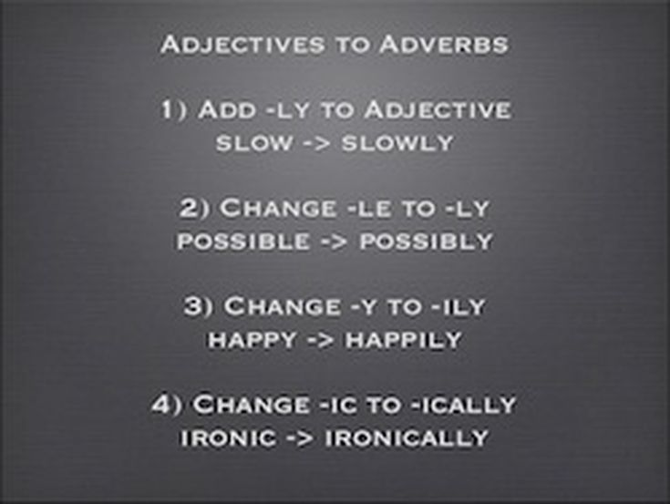 Adverbs Definition And Examples For Esl Students