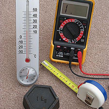These are examples of measuring instruments that use the metric system.