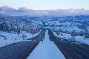 add_a_photo Embed Share Buy the print Comp Save to Board I-70 Highway with Mountains at dusk.
