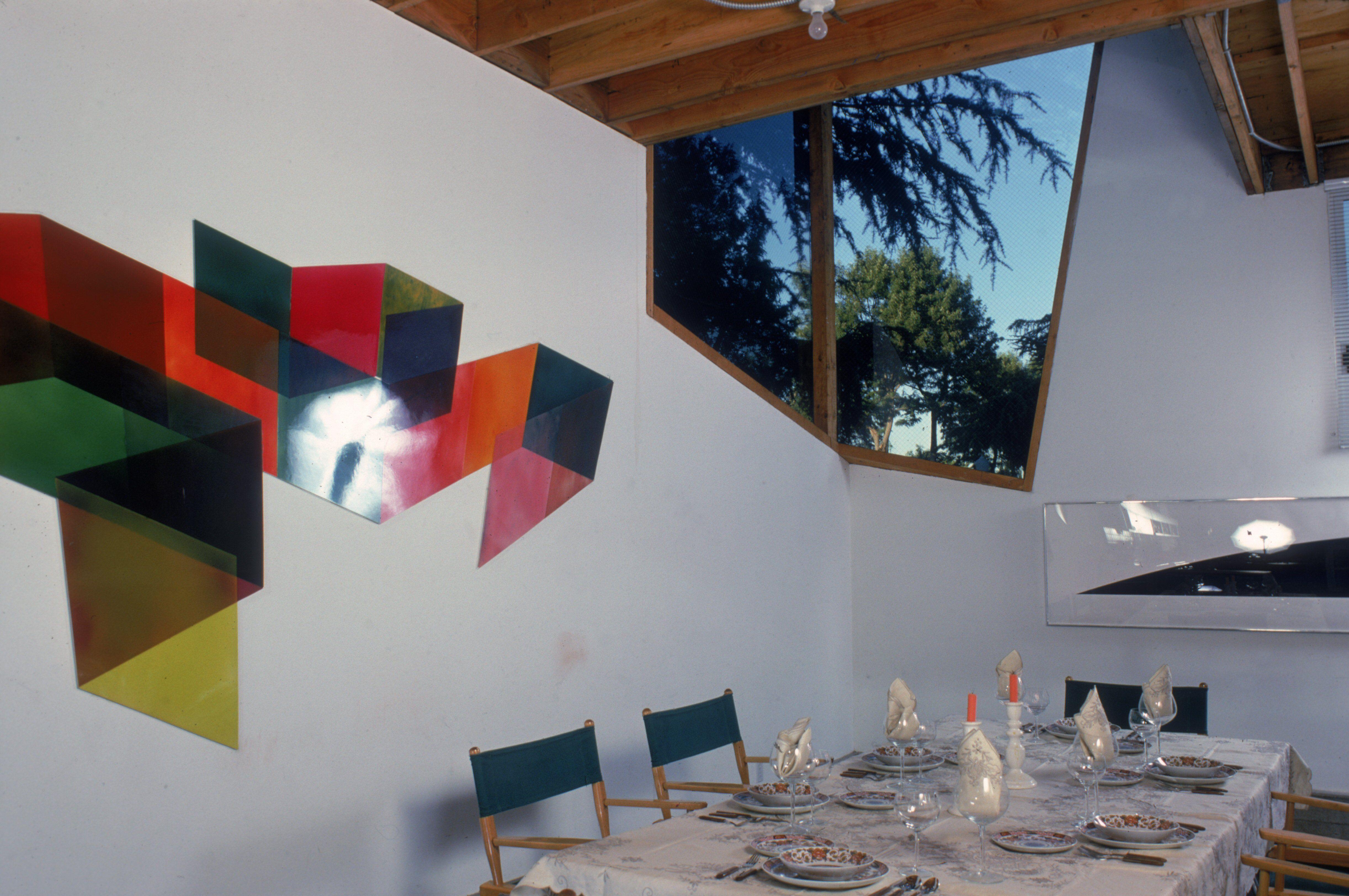 nterior dining area of Frank Gehry's house, Santa Monica, California
