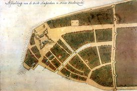 The Castello Plan, the earliest known plan of New Amsterdam in New Netherland, ca. 1660