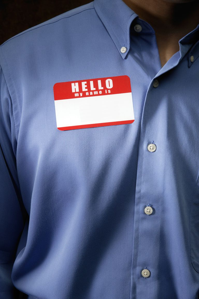 Businessman with name tag
