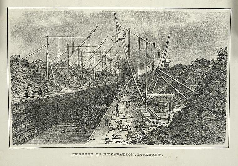 Excavation at Lockport