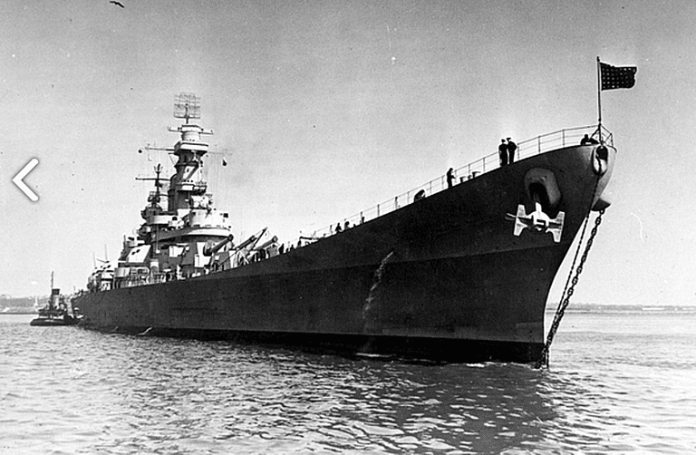 USS Iowa during World War II