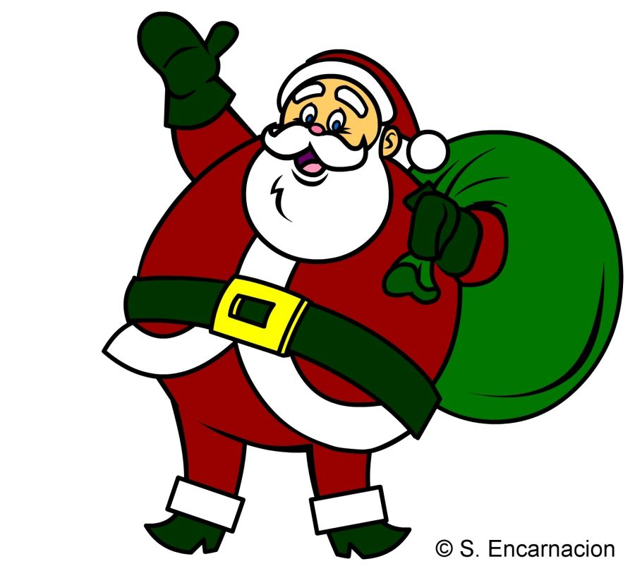 santa claus cartoon in color