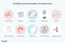 10 illustrations of oxymorons