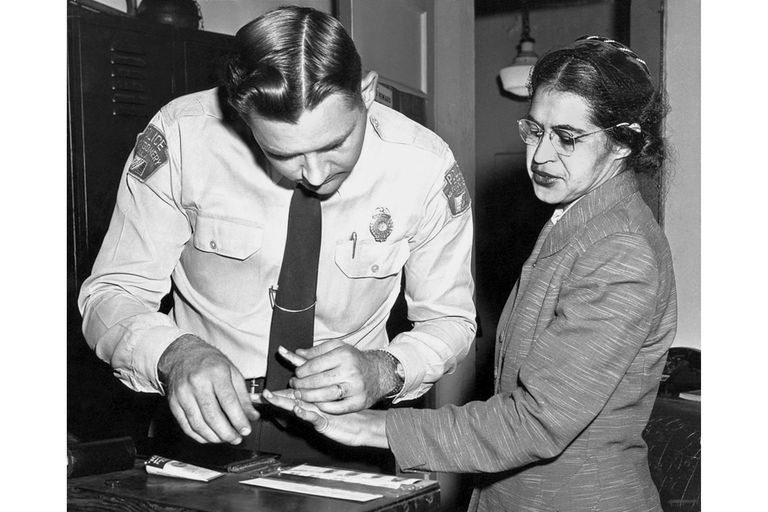 Rosa parks gets fingerprinted