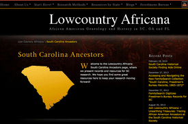 Lowcountry Africana website