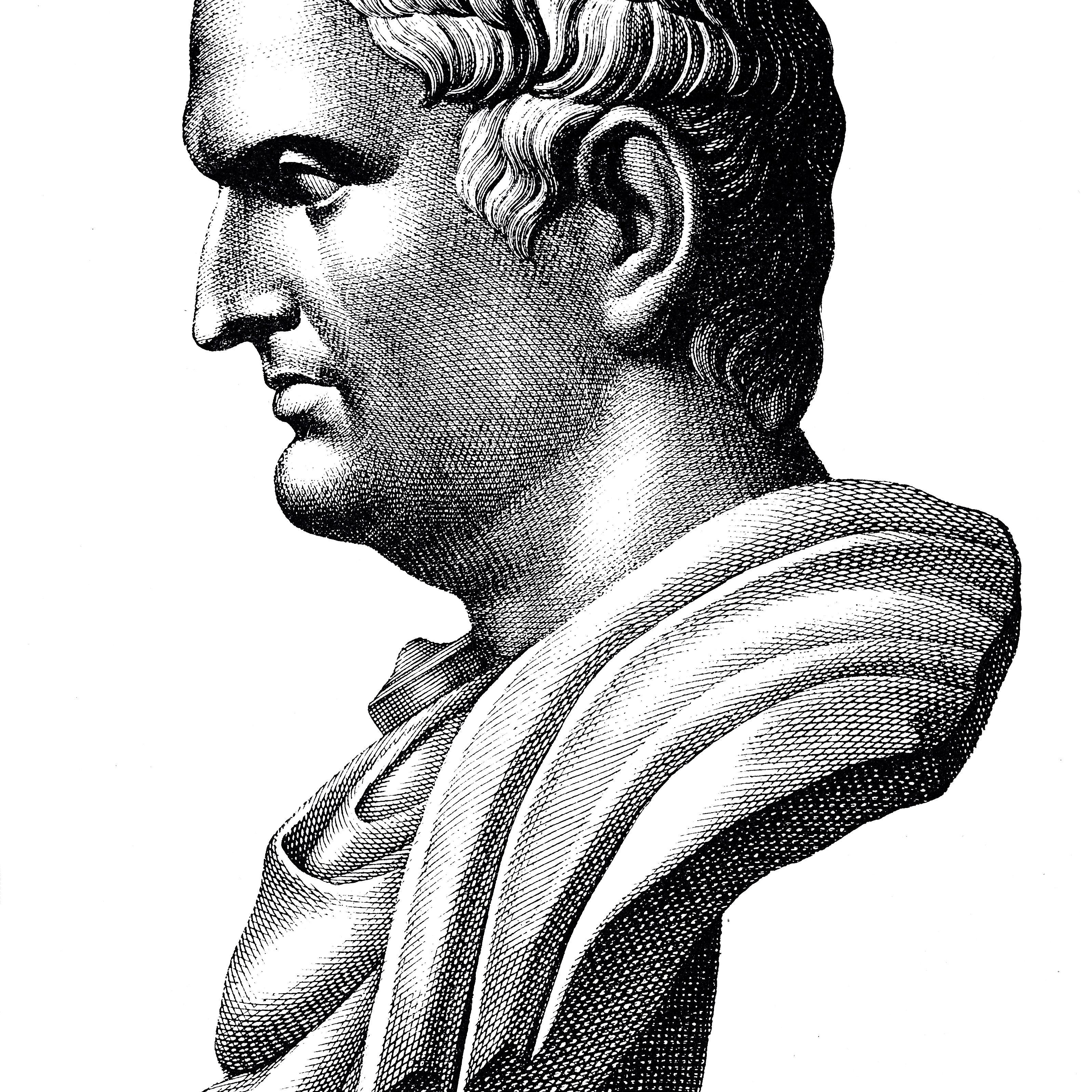 Bust of Marcus Antonius, roman politician and general