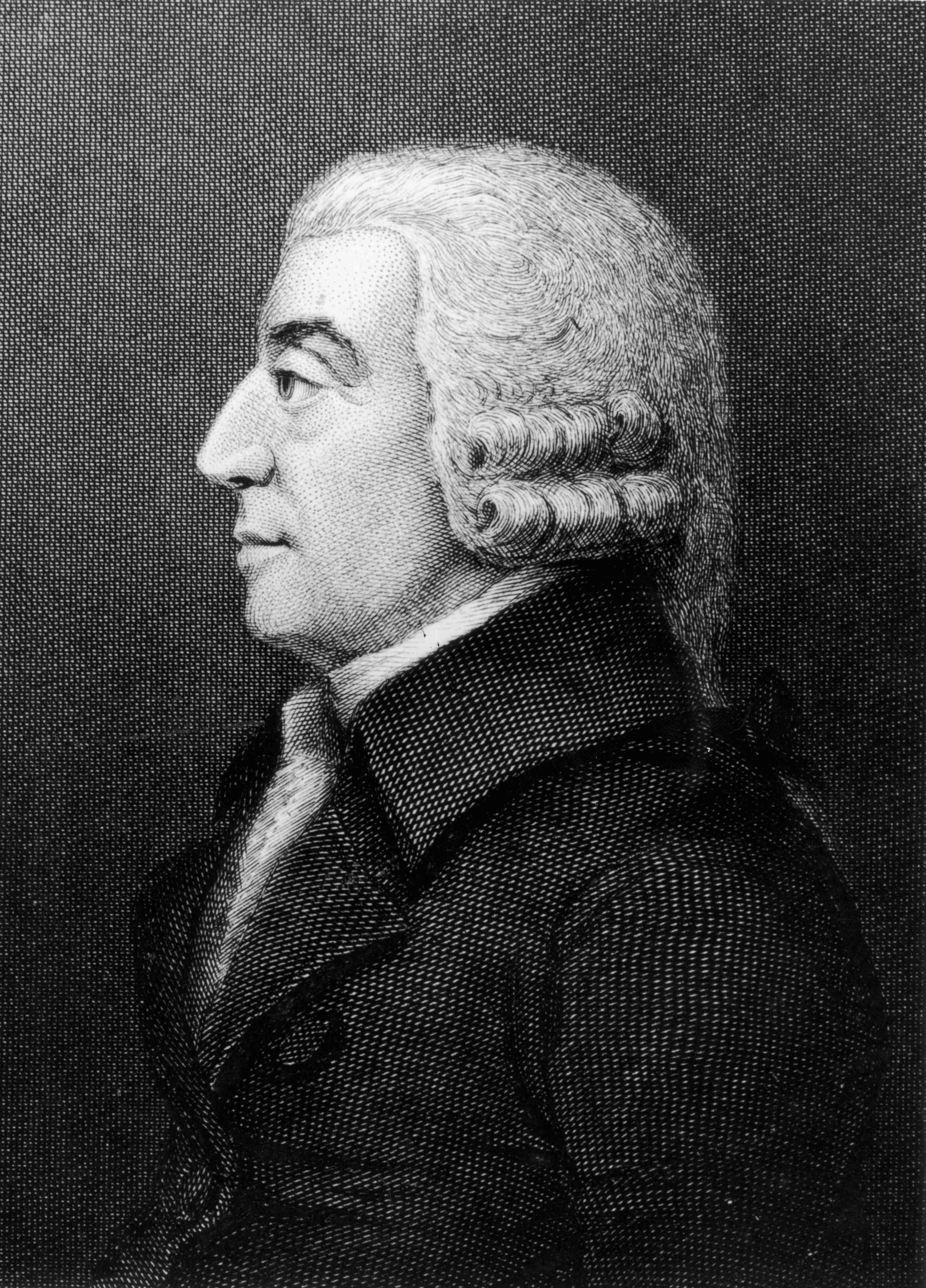 Scottish political economist and philosopher Adam Smith (1723 - 1790).