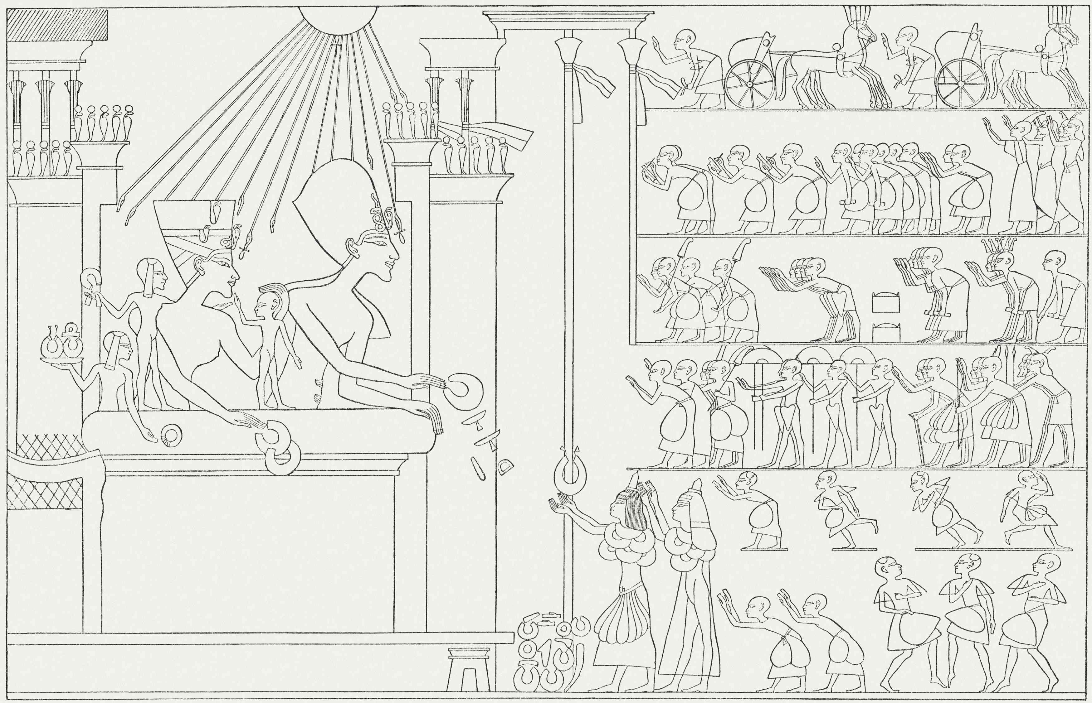 Akhenaten and Family Distributing Gifts