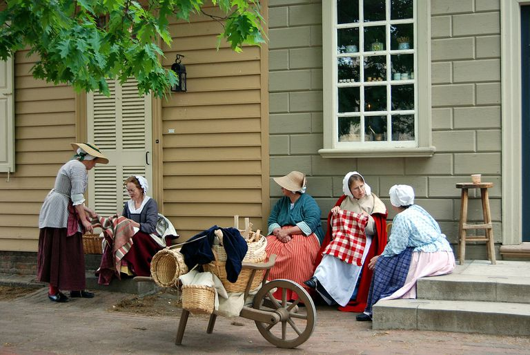 Reenactors in Colonial Williamsburg