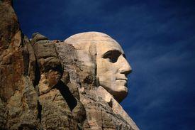 George Washington's face on Mt. Rushmore
