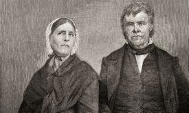 Peter Cartwright and his wife Francis Gaines