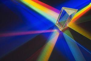 Light passing through a prism