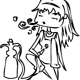 Facebook image of a girl getting stoned