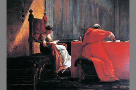 Lucrezia Borgia with her father, Pope Alexander VI