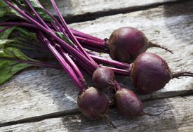 beets on a table
