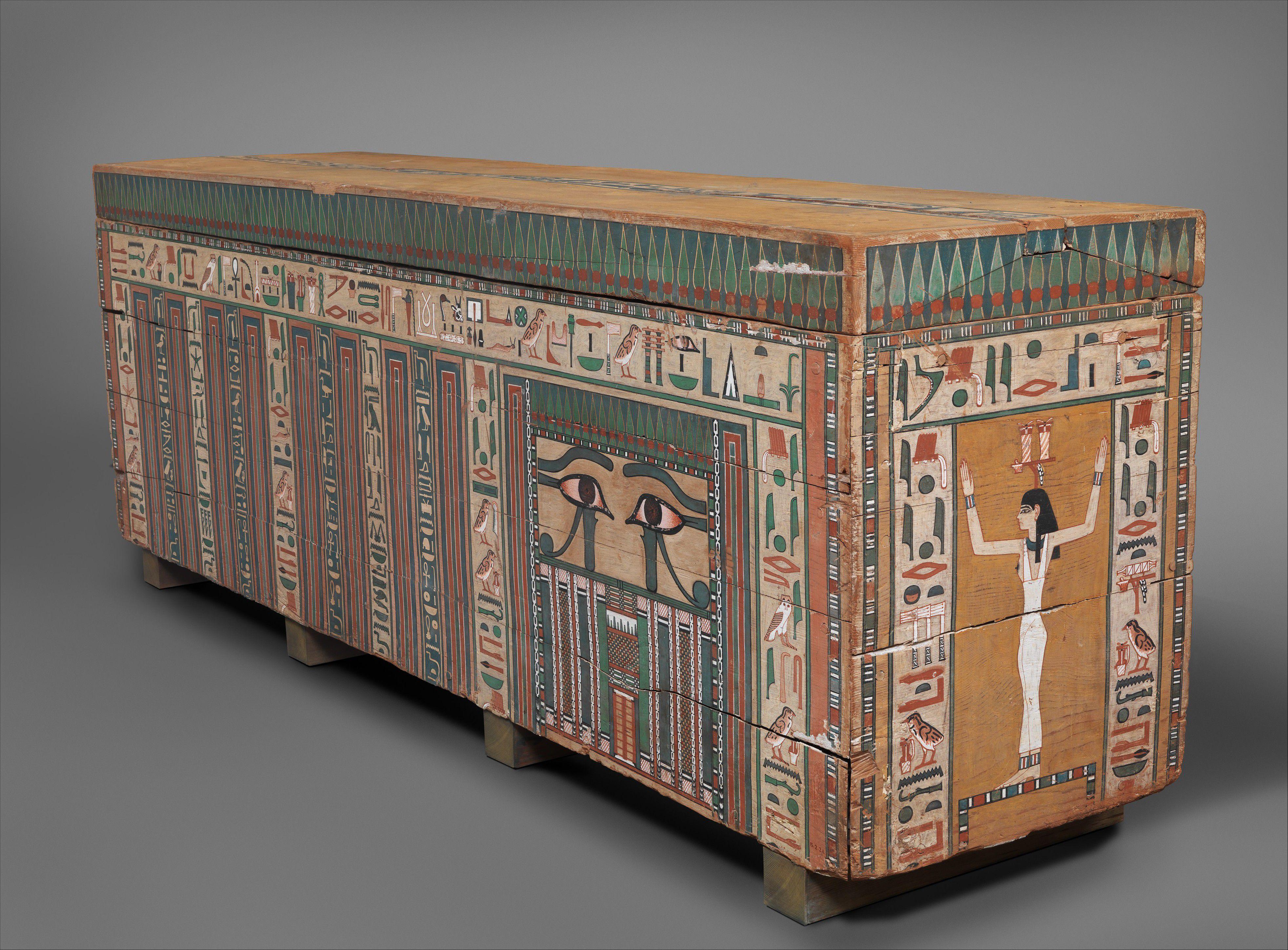 Coffin of Khnumankht, Middle Kingdom, 13th Dynasty ca 1802-1640 B.C.E.