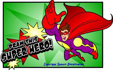 How To Draw A Cartoon Super Hero