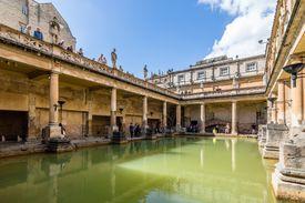 Tourists at the Roman baths
