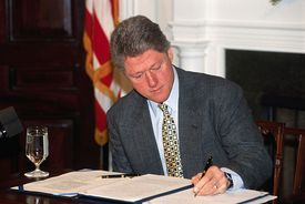 President Bill Clinton's line item veto