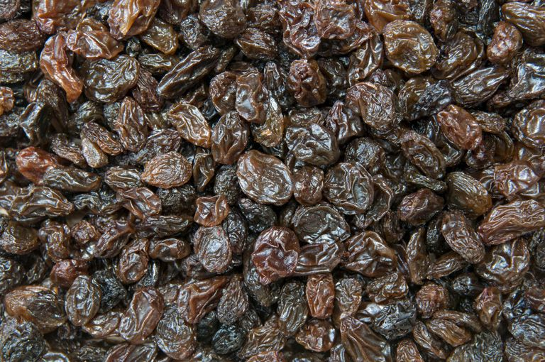 Full frame shot of seedless raisins