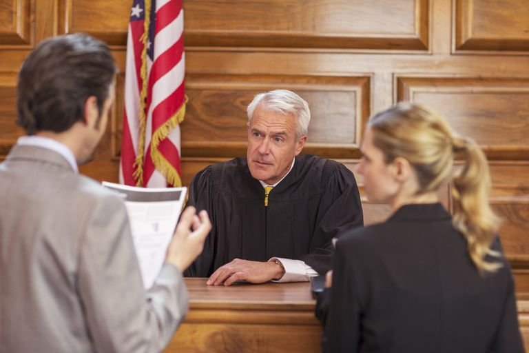 Trial in a Courtroom