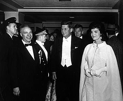 President John F. Kennedy and First Lady Jacqueline Kennedy at the inaugural ball January 20, 1961