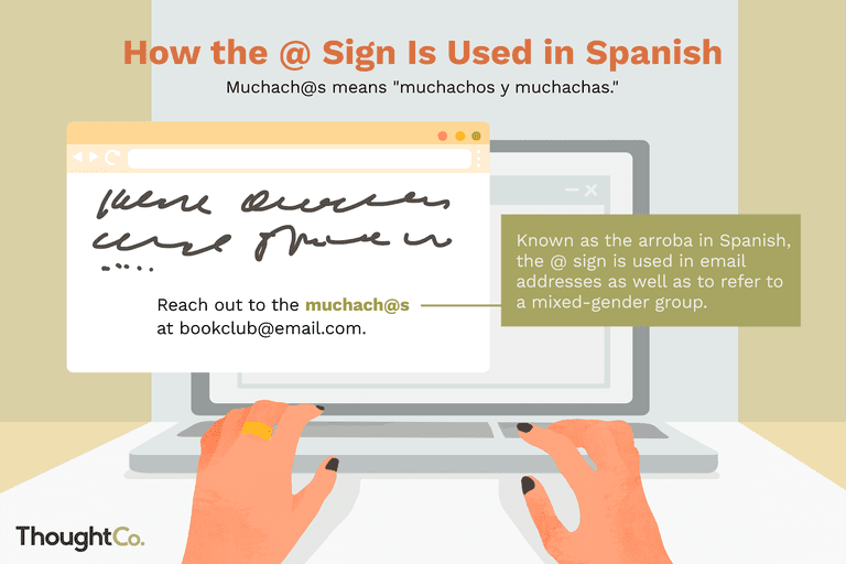 How the @ sign is used in Spanish