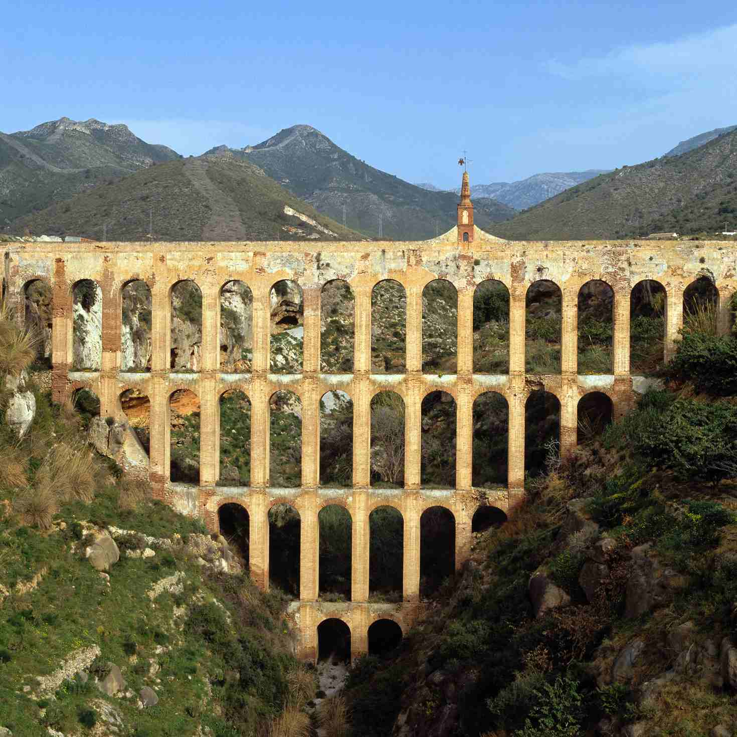 Roman Aqueduct in Spain, courtesy of the History Channel