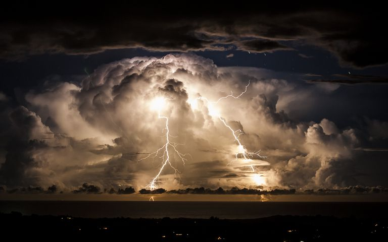 Stormy night over Byron Bay