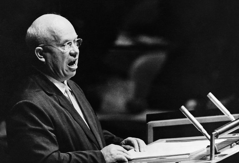 Nikita Khrushchev addressing the United Nations