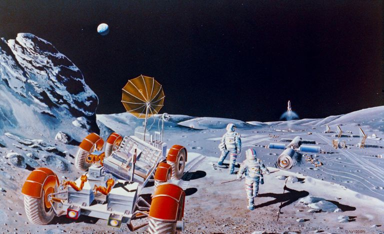 Retro Space Station Concept Art