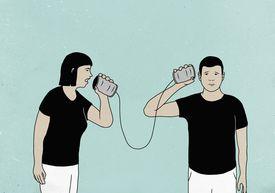 Illustration of people communicating