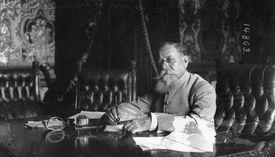 Venustiano Carranza working at his desk