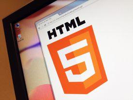 HTML5 logo on screen