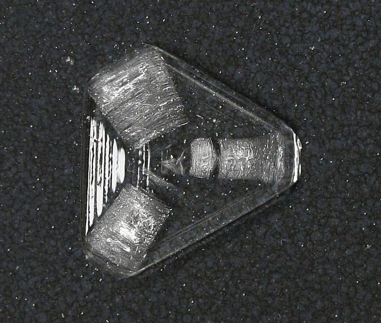 This is a single alum crystal.
