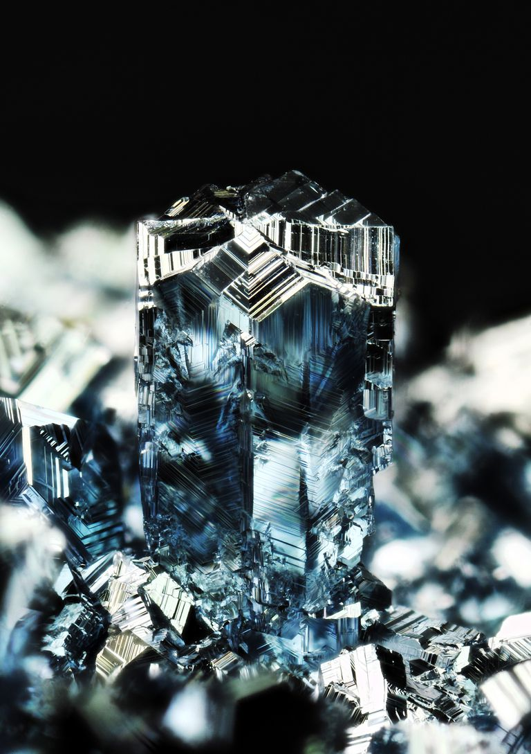 A close-up photo of Osmium Crystals