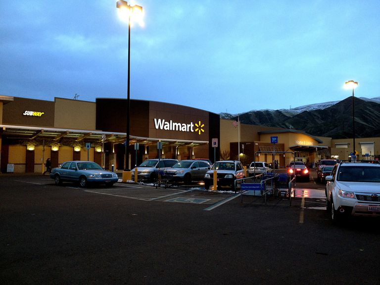 Walmart store in Clarkston Washington, USA