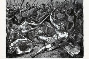 Illustration of Spartacus' Death, 1882