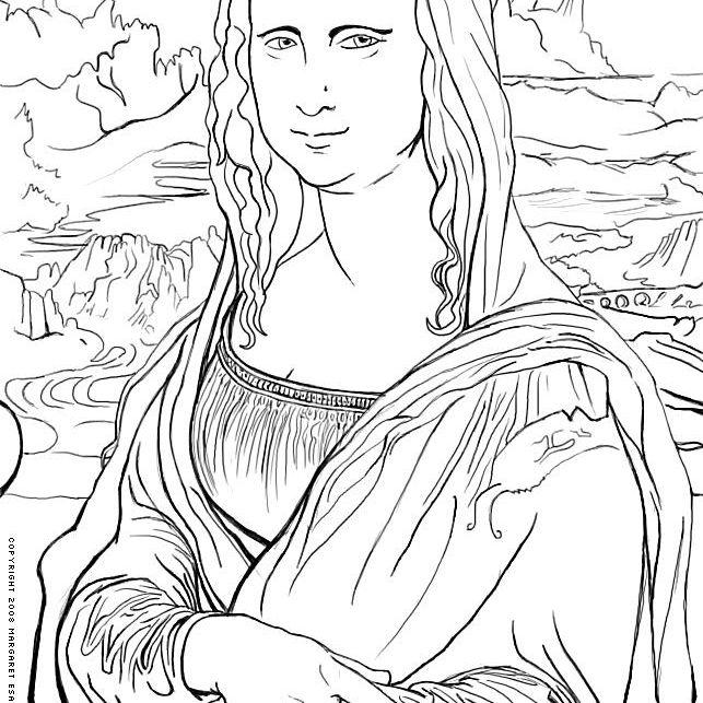 Leonardo da Vinci's Mona Lisa to Print and Color Leonardo da Vinci (Italian, 1452-1519). Mona Lisa (La Gioconda), ca. 1503-05.